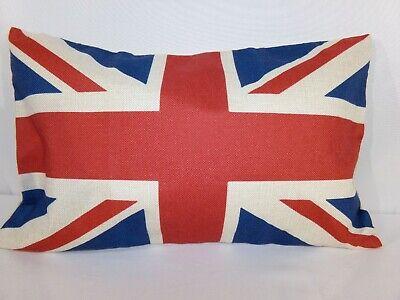 Britain Flag Pillow Case Designer Accent Decorative British Home 12x16 Distress