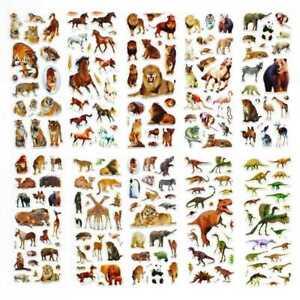10Pcs-Fun-Stickers-Dinosaurier-Aufkleber-HOT-Y3M6