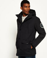 New Mens Superdry Everest Parka Jacket Black