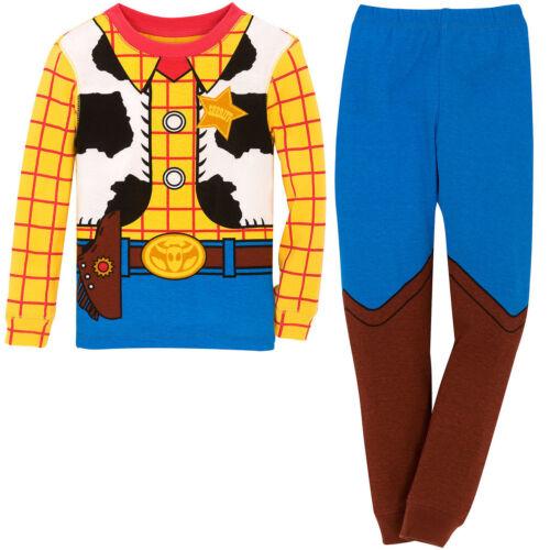 NWT Disney Store Woody Costume PJ Pal Pajama Set Toy Story Boys Sheriff