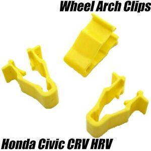 10x-Honda-Civic-CRV-HRV-Wheel-Arch-Wing-Mud-Splashguard-Trim-Clips-90601-SMG-003