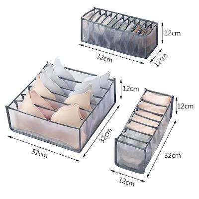 1Pcs Foldable Drawer Organizer Divider Closet Storage Box For Underwear Bra Sock
