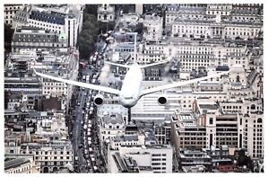 Postcard-RAF-Voyager-Aircraft-RAF100-Parade-and-Flypast-over-London-80F