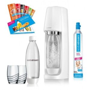 Sodastream-Easy-Promo-Blanc-Fontaine-Machine-a-Eau-CO2-ZYLINDER-Produit-Neuf