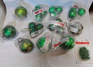 "Ornaments Christmas Glitter Design Celebrate It 21ea 1 1/2"" & 2 1/2"" Hooks 11U"