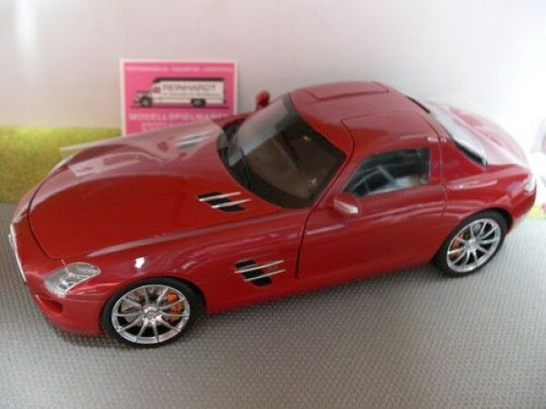 1/18 Welly GTA SERIE MB MB MB SLS AMG ROSSO 1ff3fc