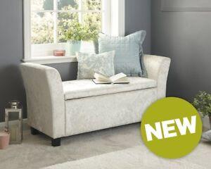 Image Is Loading Velvet Window Seat Sofa Bench Storage Stool Chaise