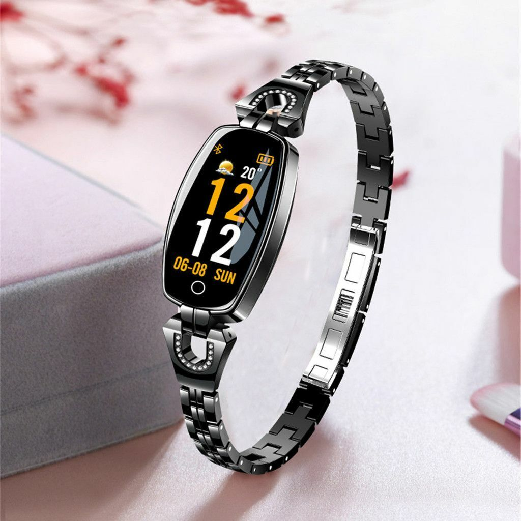 Ladies Smart Bracelet HeartRate Blood Pressure Monitor Bluetooth Wristband Watch