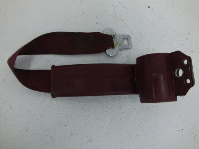 Rear Seat Belt Retractor 86 Jeep Cherokee Right Passenger Side RED 85 84 87 88