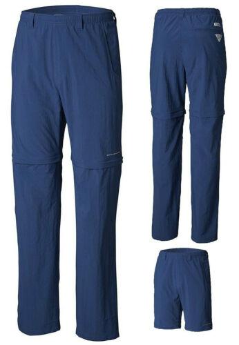 Columbia PFG Backcast Convertible Pant Shorts NEW $45 Blue Swimsuit Hiking