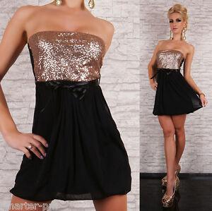 Vestido negro lentejuelas h&m