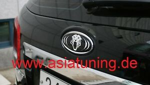 Tiger-Emblem-hinten-Heckklappe-Kia-Niro-ab-2016-Tuning-Zubehoer-chrom-schwarz