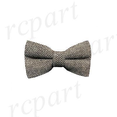 New Men/'s Pre-tied Bow tie Herring Bone Stripes Wedding Prom Olive Wedding Prom