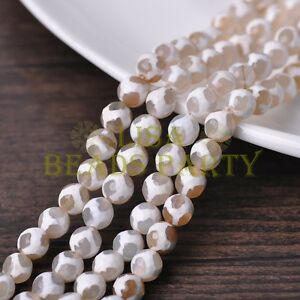 1-Strand-39cm-Length-46-48pcs-8mm-Natural-Stone-Gemstone-Craft-Beads-White
