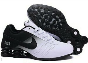 100% authentic a8504 994c5 New Men Women Black, White Nike Shox Deliver Athletic Running Shoes ...