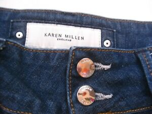 WOMENS KAREN MILLEN blue stretch JEANS UK12 US8 EU40
