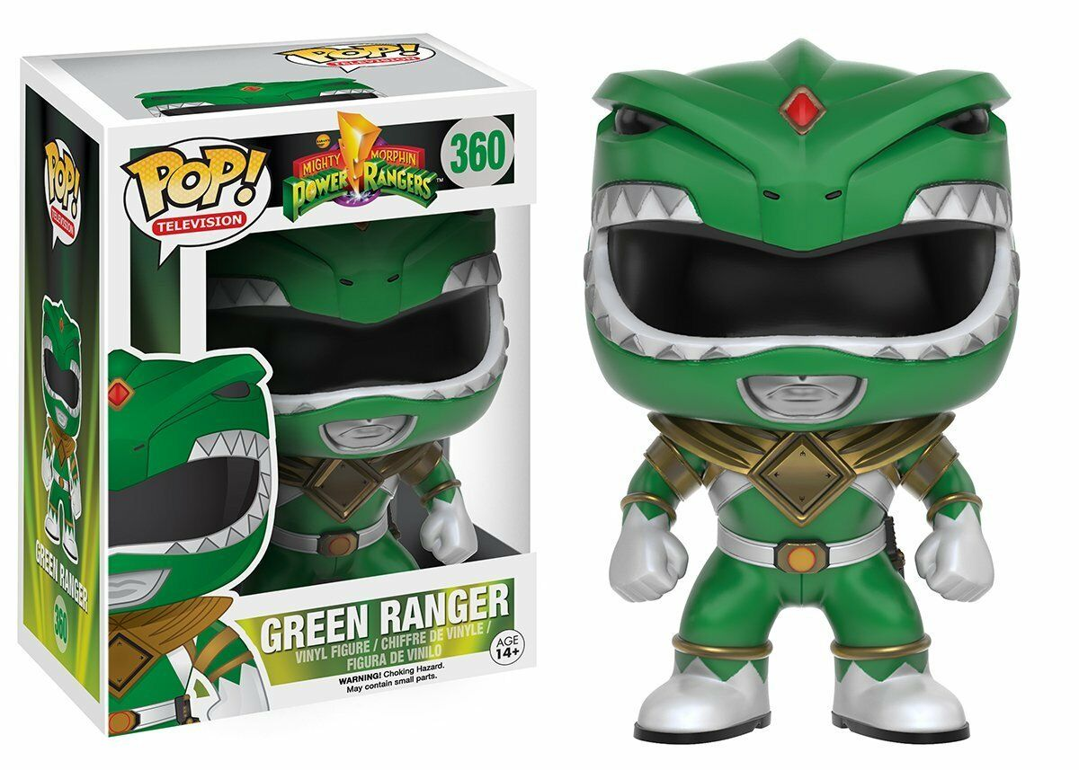 Original Grün Ranger Lizenzierter Power Rangers Funko Pop  360 Vinyl Figur Neu