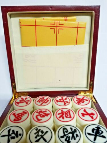 XIANGQI Chinese acrylic chess set large size high quality wooden case