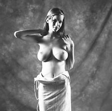 8x10 Print Sexy Model Pin Up Brunette Busty Beauty Nudes #1011889