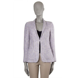 42875-auth-CHANEL-lilac-black-amp-white-cotton-Tweed-Blazer-Jacket-36-XS