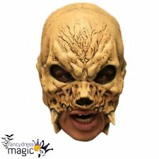 Crania Skull Skeleton Evil Demon Halloween Horror Chinless Chin Strap Latex Mask