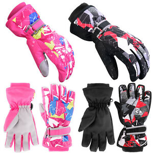 Winter-Kids-Ski-Gloves-Snow-Warm-Snowboard-Waterproof-Boys-Girls-Outdoor-Sports