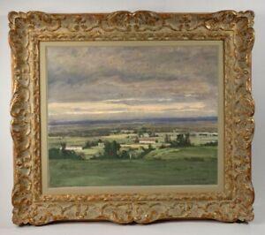Henri-Andre-MARTIN-1918-2004-PEINTURE-PAYSAGE-AUTOUR-D-039-EYGALIERES-1942-9