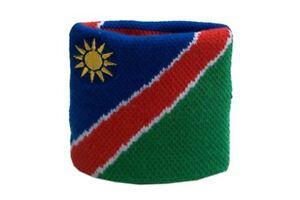 Schweisband-Drapeau-Drapeau-Namibie-2er-Set-7x8cm-bracelet-de-sport