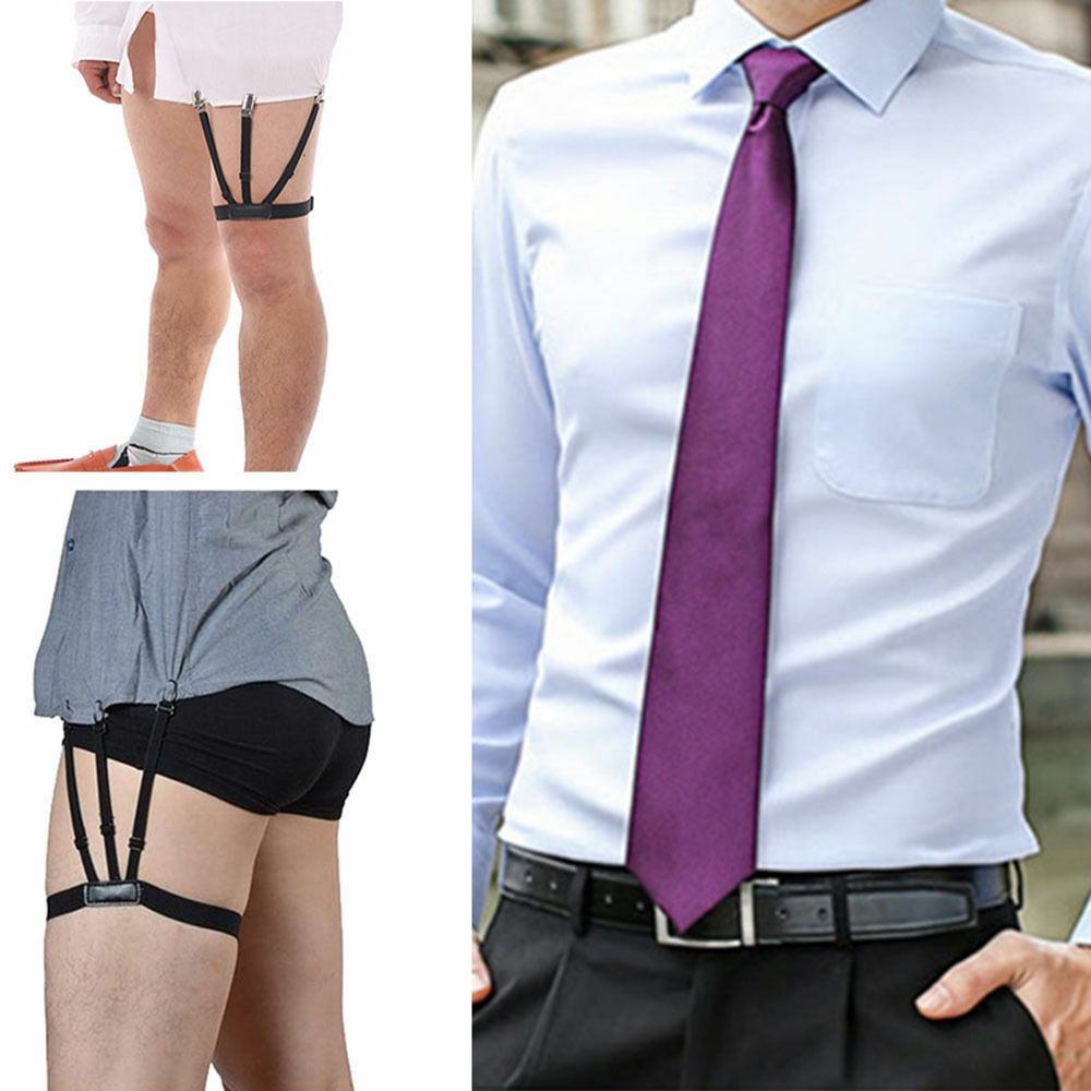 2pcs/Pair S Holders Hidden Suspenders - Keeping Your Shirt Tucked In All Day BY