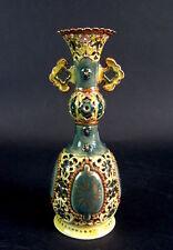 traumhafte Keramik Vase - Zsolnay Pecs 1826 - Durchbruch - Doppelwandig
