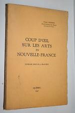 COUP D'OEIL SUR LES ARTS EN FRANCE par GERARD MORISSET 32 GRAVURES QUEBEC 1941