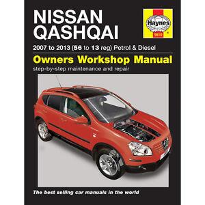 5610 nissan qashqai 2007 13 haynes manual 1 6 2 0 petrol 1 5 2 0 rh ebay co uk nissan qashqai user manual 2014 nissan qashqai user manual download