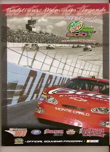 2004 Mountain Dew Southern 500 Program Jimmie Johnson win