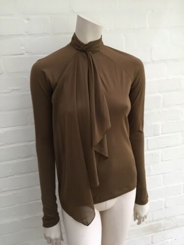 Lauren Jumper Slim Top Sweater Ralph S Women's Size Small Fit Brown dqnIwnSxF