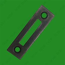 2x Metal Cupboard Wardrobe Mortice Type Lock Jamb Striker Plate 12mm x 41mm