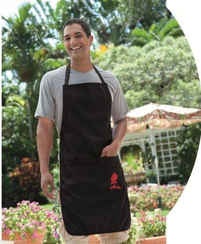 Weber Men/'s /& Women/'s Black 100/% Cotton Apron For Grilling **NEW**