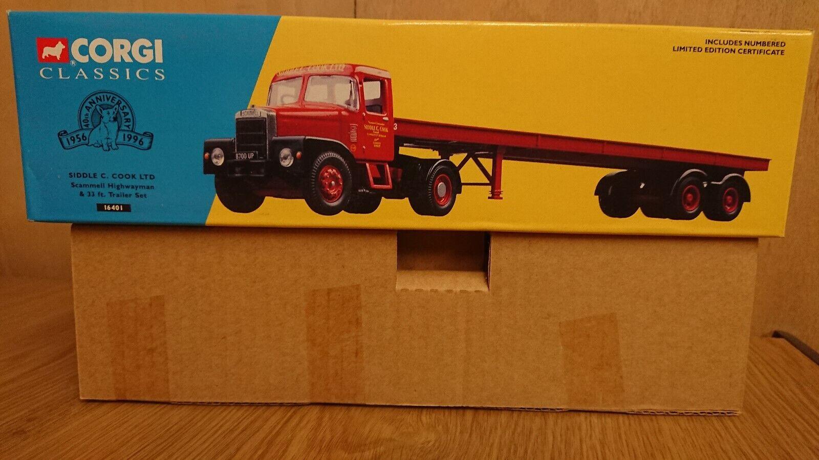 Corgi 16401 Scammell Highwayman & Trailer SIDDLE C. COOK Ltd Edition