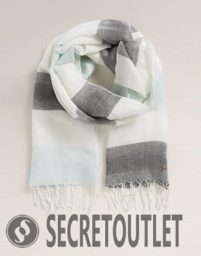 Esprit Grey New Ladies Woven scarf with long fringes RRP£29