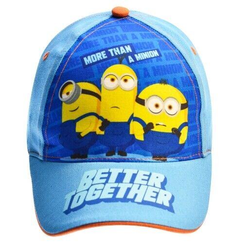 Universal mütze Minions junior textil hellblau Größe 54