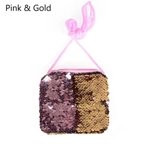 Girls Crossbody Bags Children/'s Money Change Sequins Coin Purse Keys Pouch