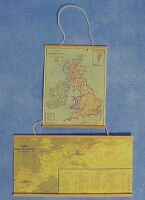 Dolls House Miniature 1/12th Scale Pack Of 2 Hanging Paper Wall Maps