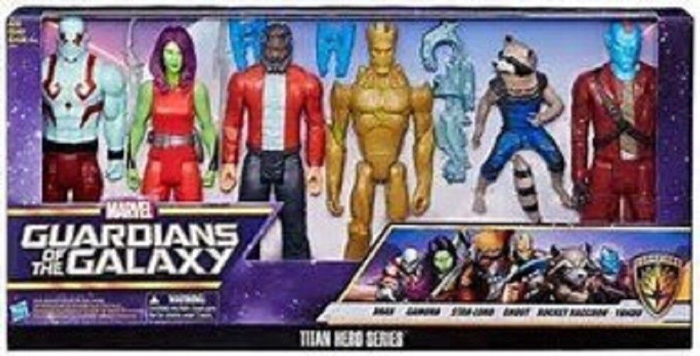 Guardians of the Galaxy Titan Hero Series 6pk Figures 12