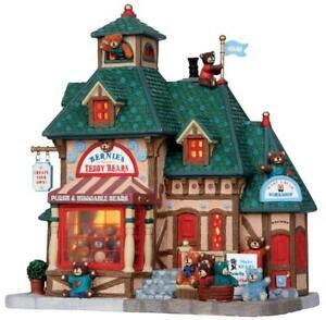 BERNIE'S TEDDY BEARS Bear New LEMAX Christmas Holiday Village Town Building RARE