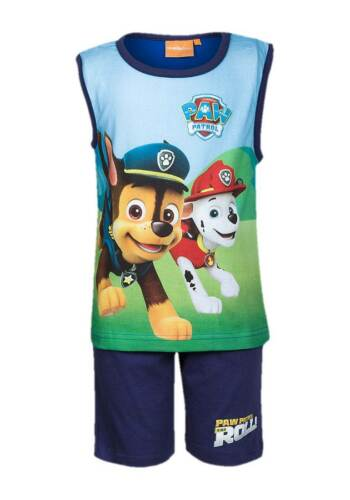 NEW Boys Paw Patrol Character Shorts /& Vest PJs Summer Outfit Beach Set Ages 3-8