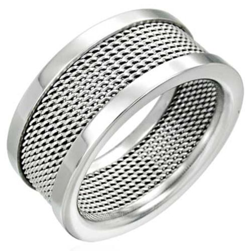 Ring aus Edelstahl stylischer moderner Edelstahlring Unisex Silber