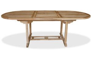 Kmh Teak Gartentisch Ausziehbar 170 230x100 Esstisch Tisch