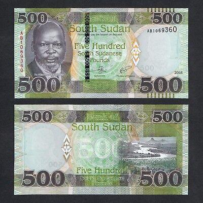 # SOUTH SUDAN 2018 P-NEW UNC 500 POUNDS