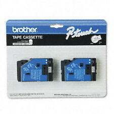 Brother Tc-20 0.47-Inch Black On White Tape for Pt-6 8 10 12 15 20 150 170 2-pack