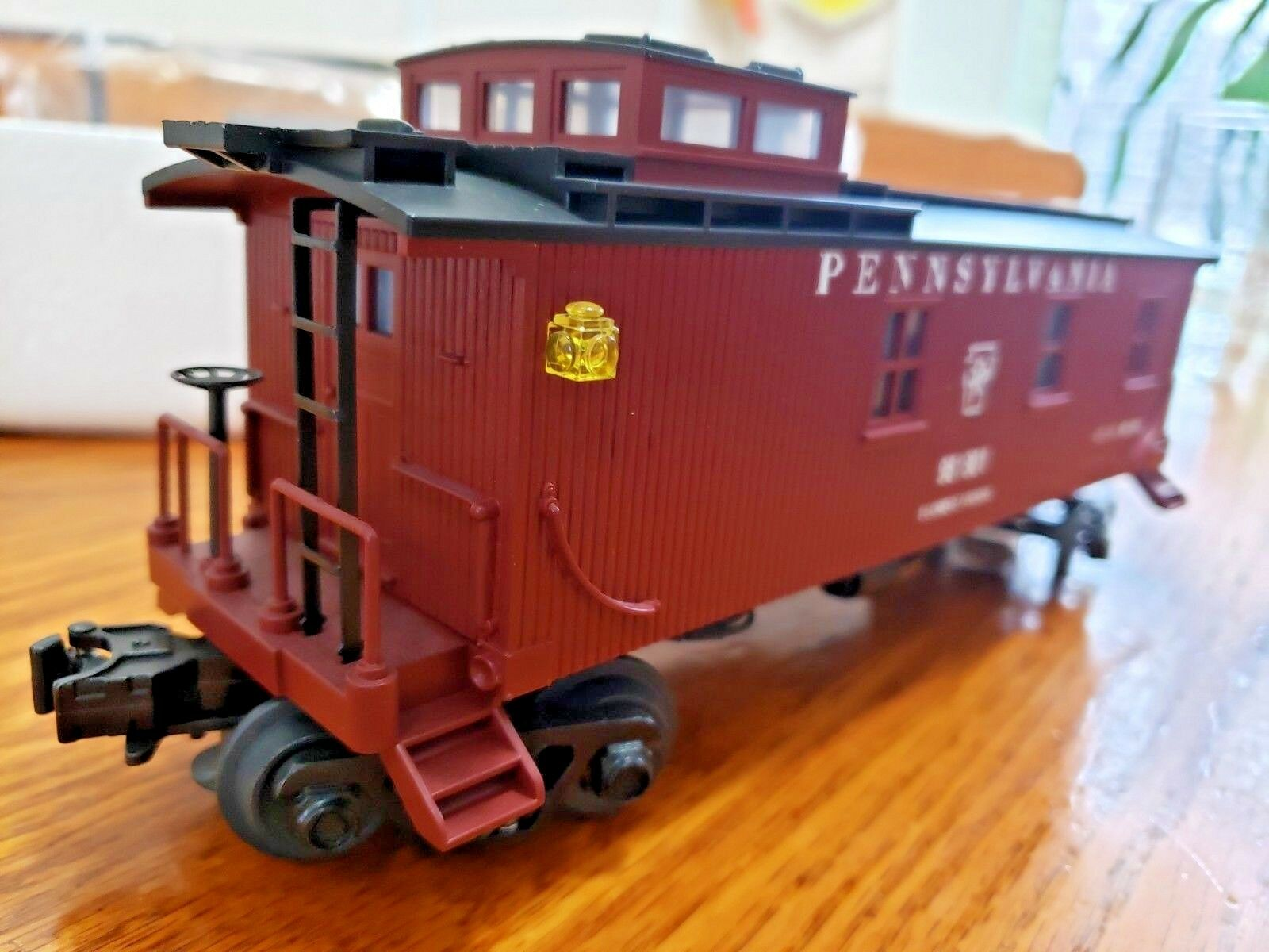 RAIL KING Pennsylvania grado 981801 woodsided furgón de cola M.T.H. Train O-O27 30-7722
