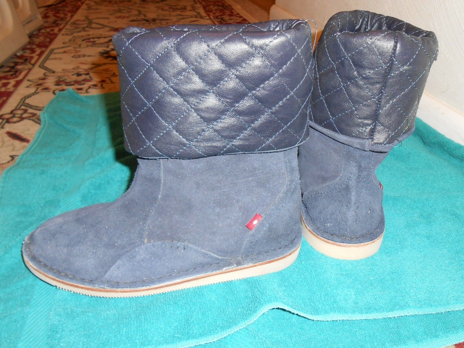 Oliberte navy suede Neje Leder Stiefel display/sample display/sample display/sample 7M New no box save  dc179b